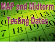 Map and midterm testing dates